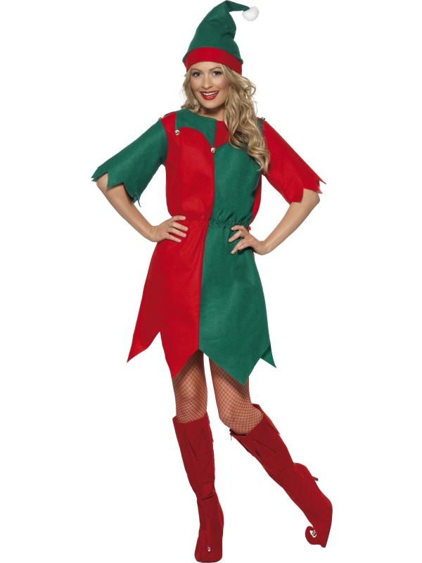 Adult elf costume men women christmas xmas fancy dress fast delivery
