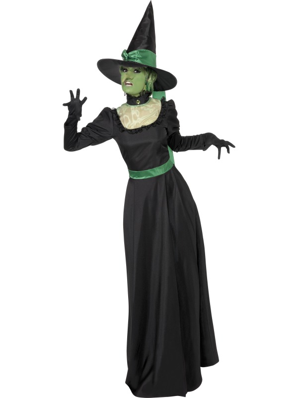 Sexy-Witch-Wicked-Witch-Fairy-Halloween-Womens-Fancy-Dress-Size-8-18-NEW